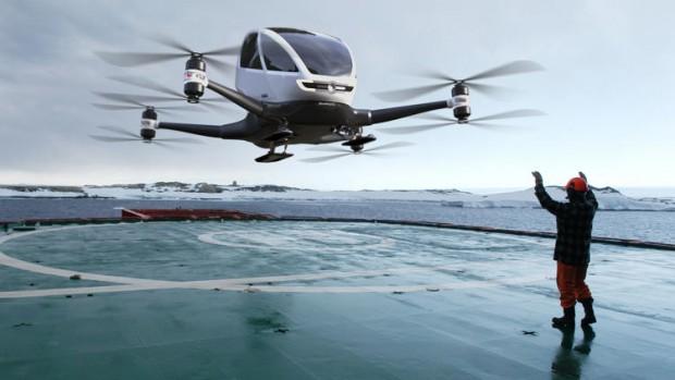 primo drone trasporto persone cina video