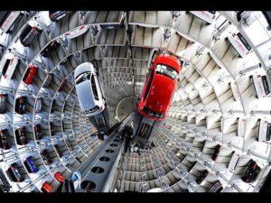 torre parcheggio verticale auto video