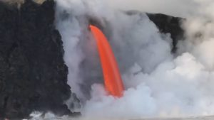 nube vapore cascata lava video